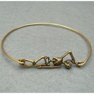 Fancy Skull Bangle Bracelet