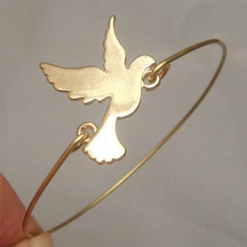 Pigeon Bird Bangle Bracelet Style 7