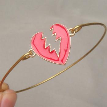 Broken Heart Bangle Bracelet